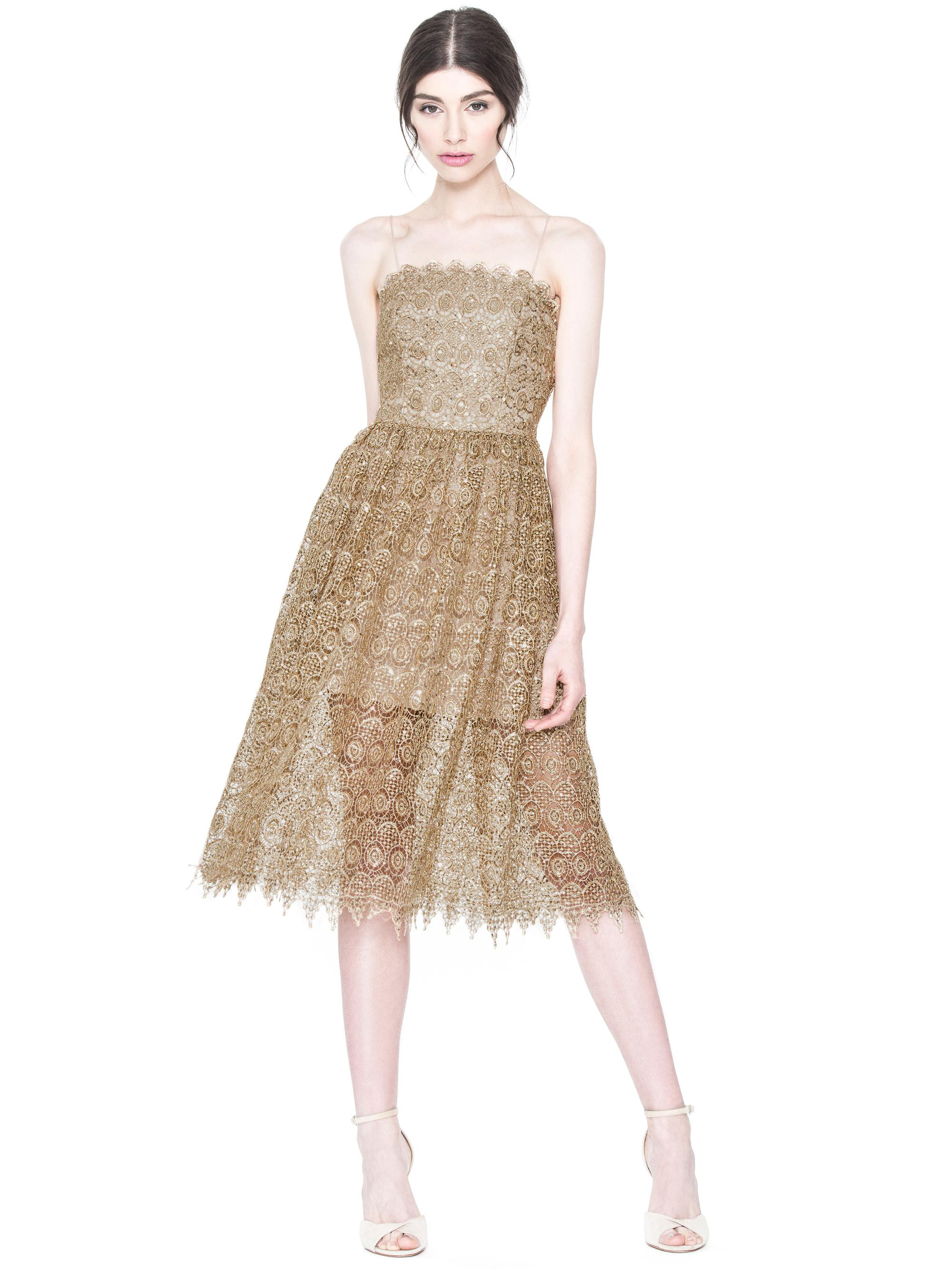 Lyst alice olivia alma midlength party dress in metallic gallery ombrellifo Images