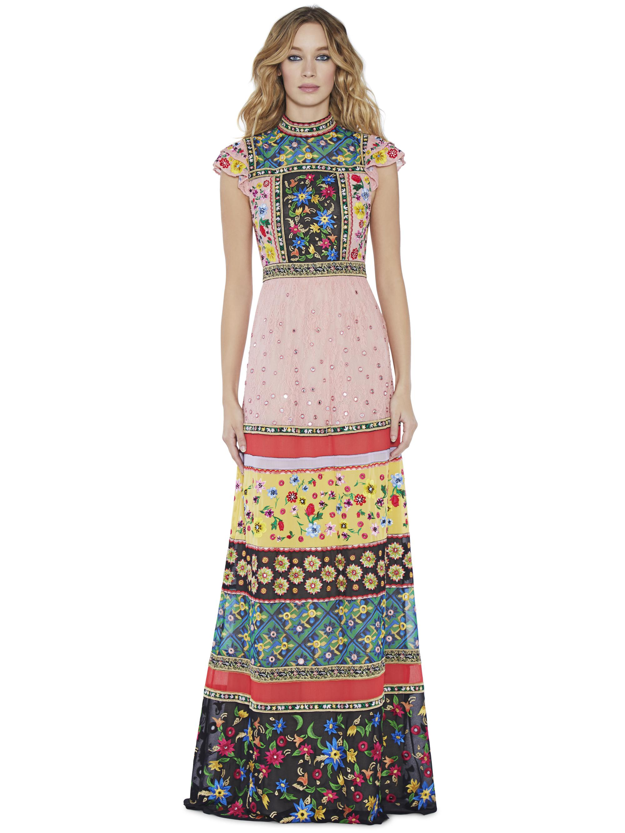 Lyst Alice Olivia Arabella Embroidered Gown