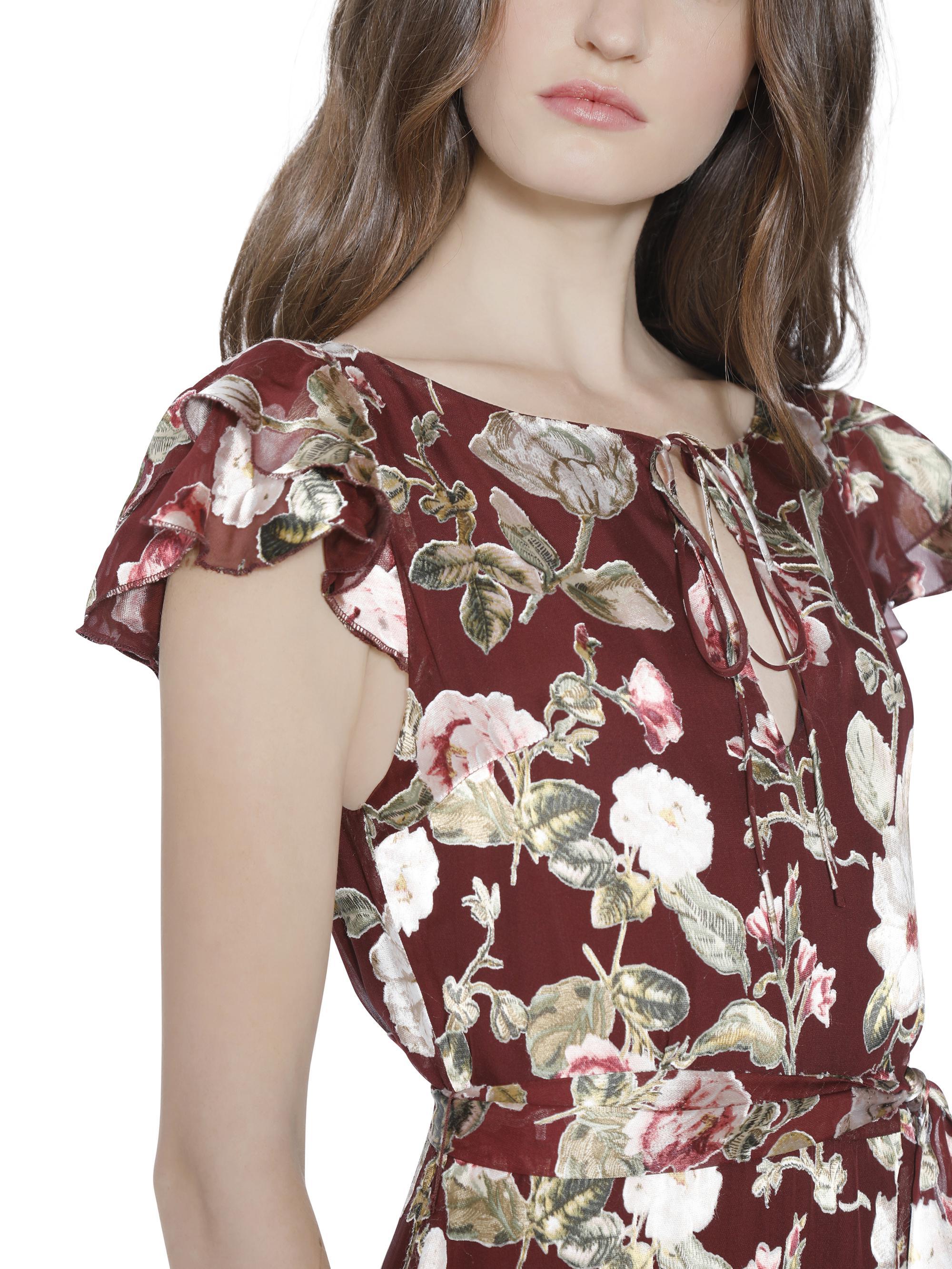 d32a24e98861 Alice + Olivia Jenny Flutter Sleeve Maxi Dress - Lyst