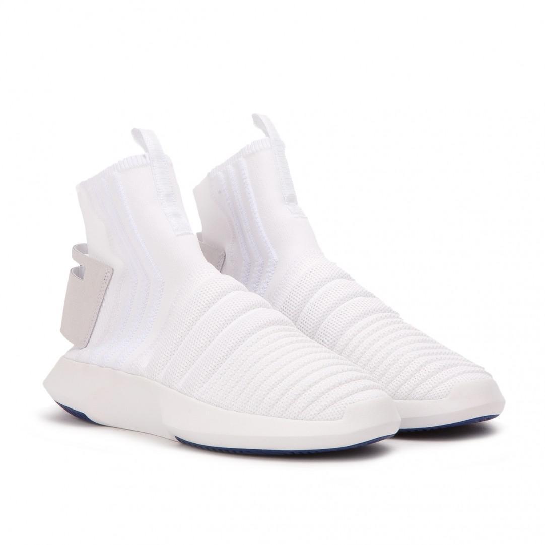 competitive price d5af9 fe89a adidas. Mens White Crazy 1 Adv ...