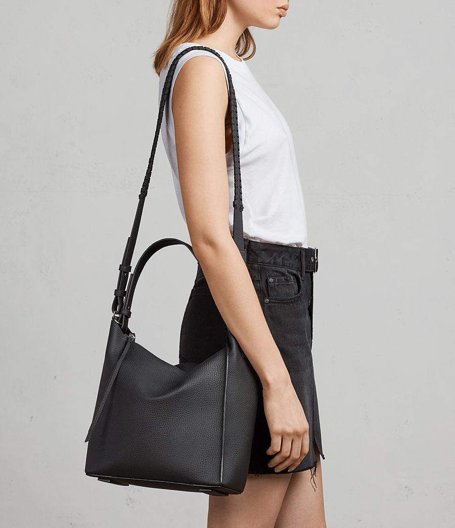 shoes for cheap differently new release AllSaints Miki Leather Cross Body Bag in Black - Lyst