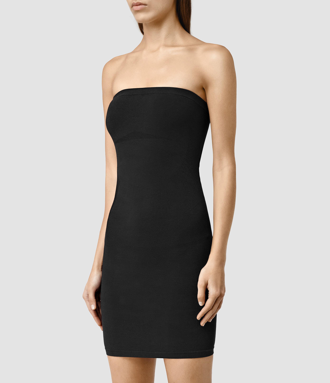 abe7057e5b4e AllSaints Bri Slip Dress in Black - Lyst