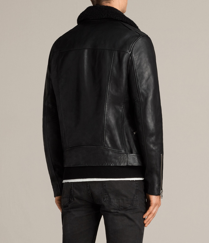 4dac1dde2fb AllSaints Hawk Leather Biker Jacket in Black for Men - Lyst