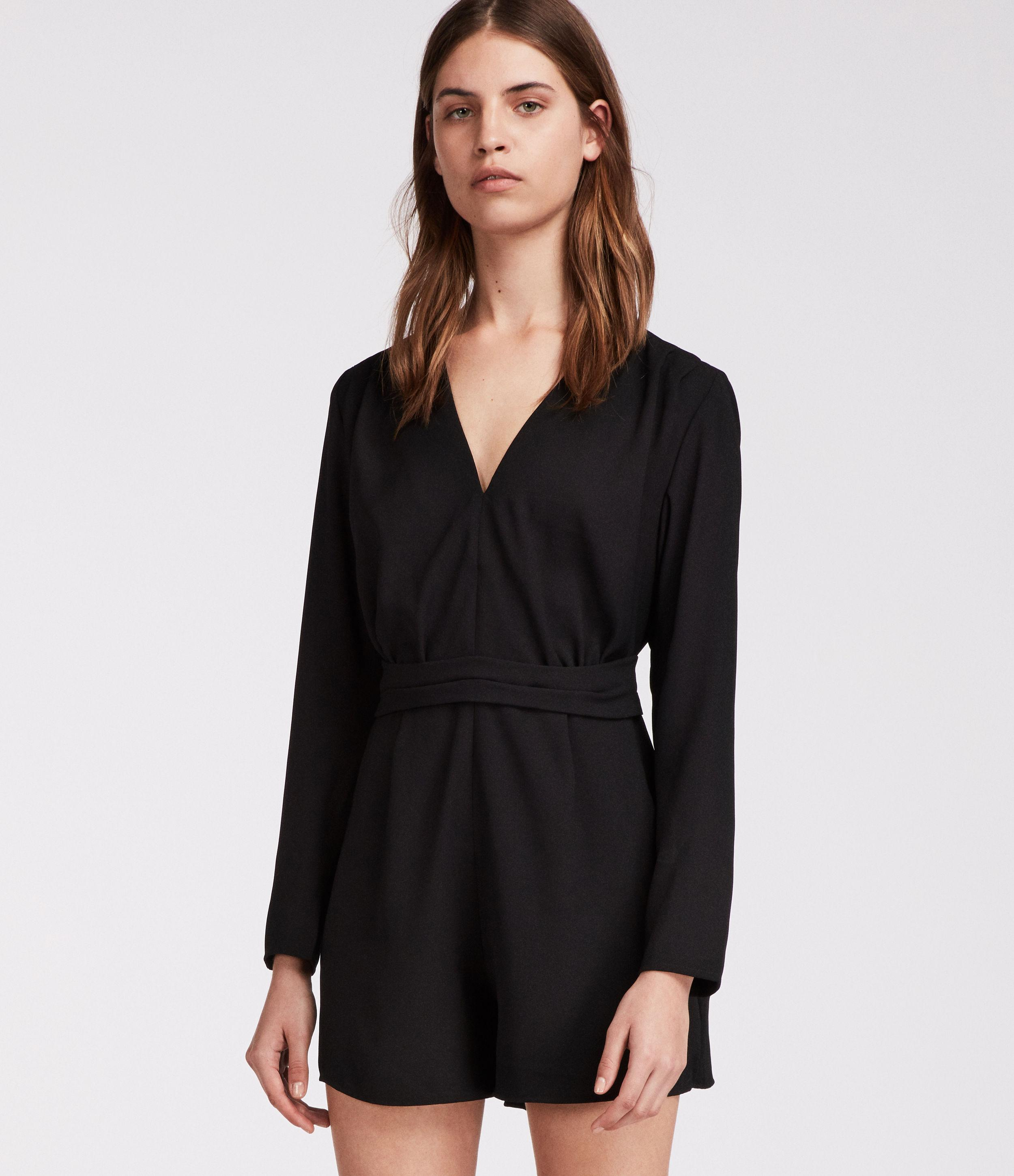 b08b6ac91e4b Lyst - AllSaints Karine Playsuit in Black - Save 34%
