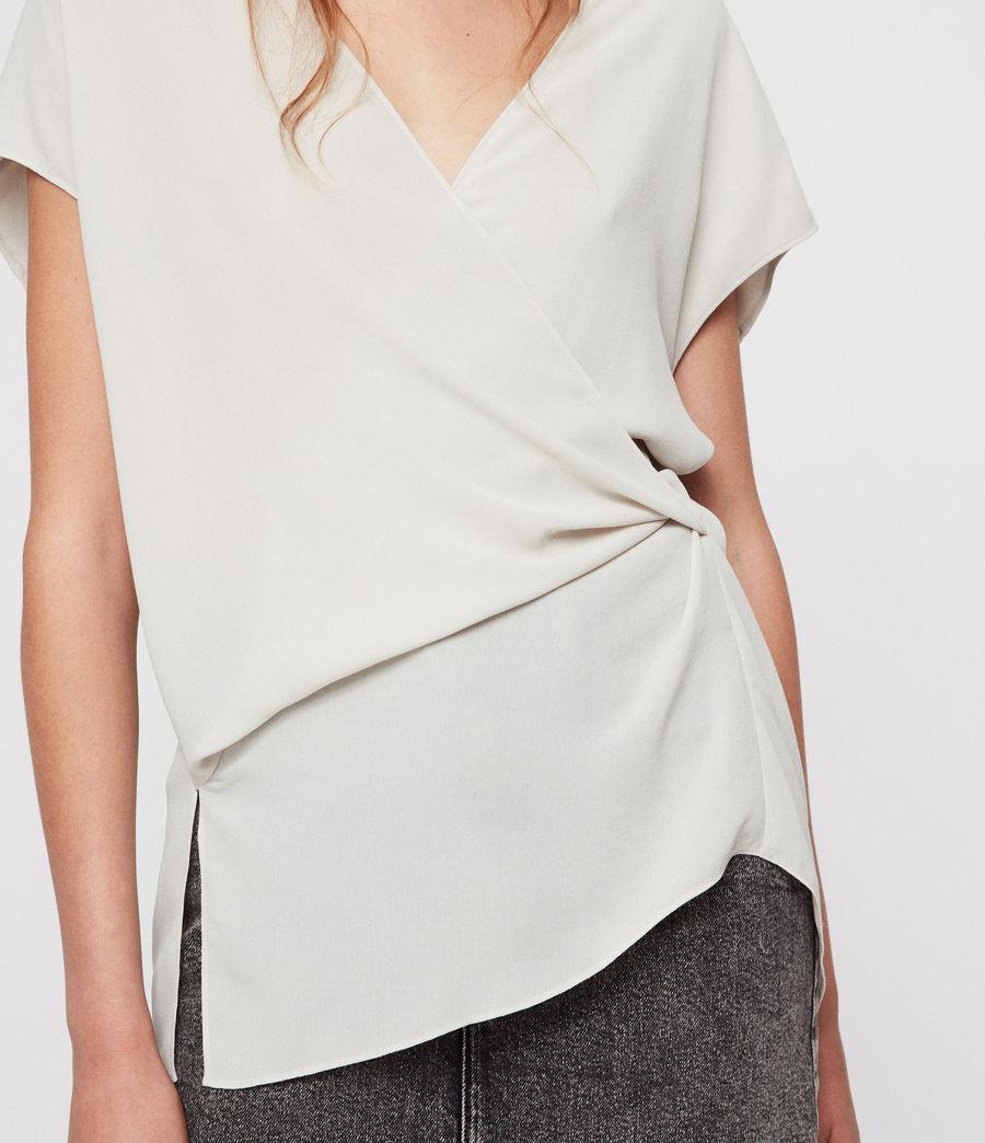 0933beb7fcbb Lyst - AllSaints Mia Faux-wrap Top in White