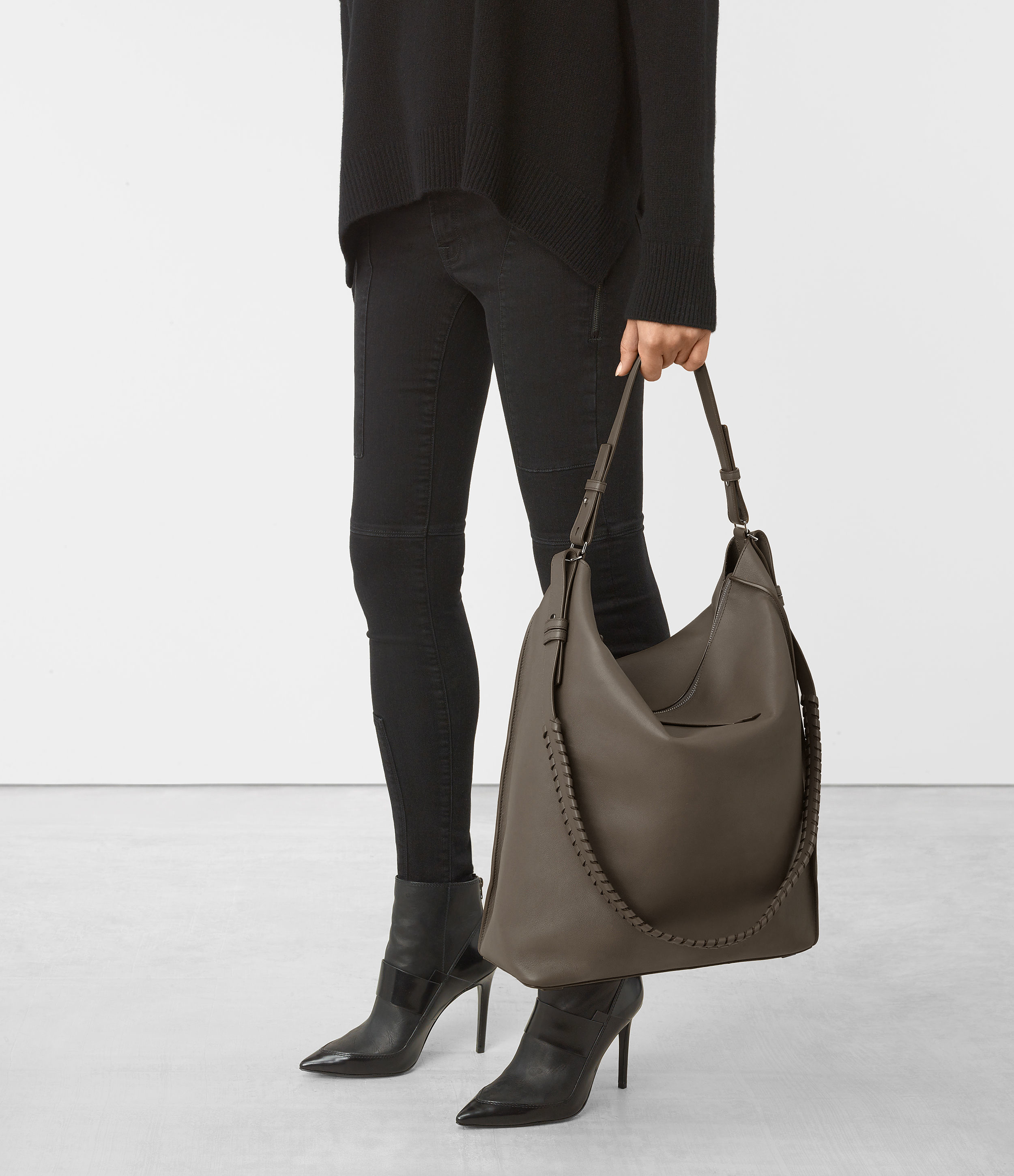 005796d697e Lyst - AllSaints Kita Large North South Tote in Gray