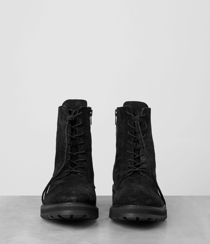 Lyst Allsaints Loft Suede Boot In Black For Men