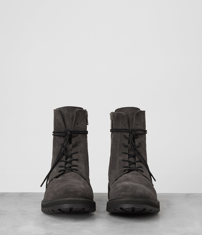 Allsaints Loft Suede Boot In Gray For Men Lyst