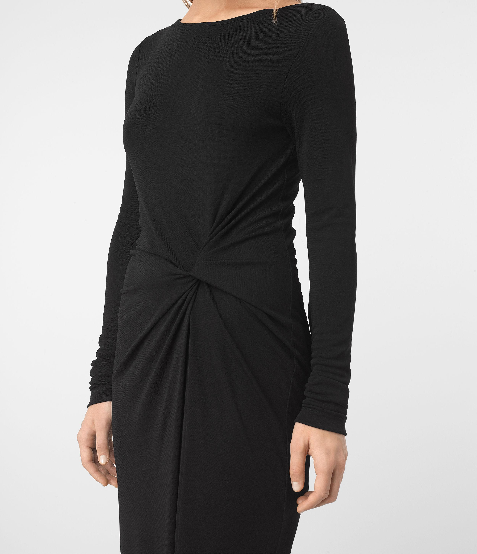 allsaints mon dress in black lyst. Black Bedroom Furniture Sets. Home Design Ideas