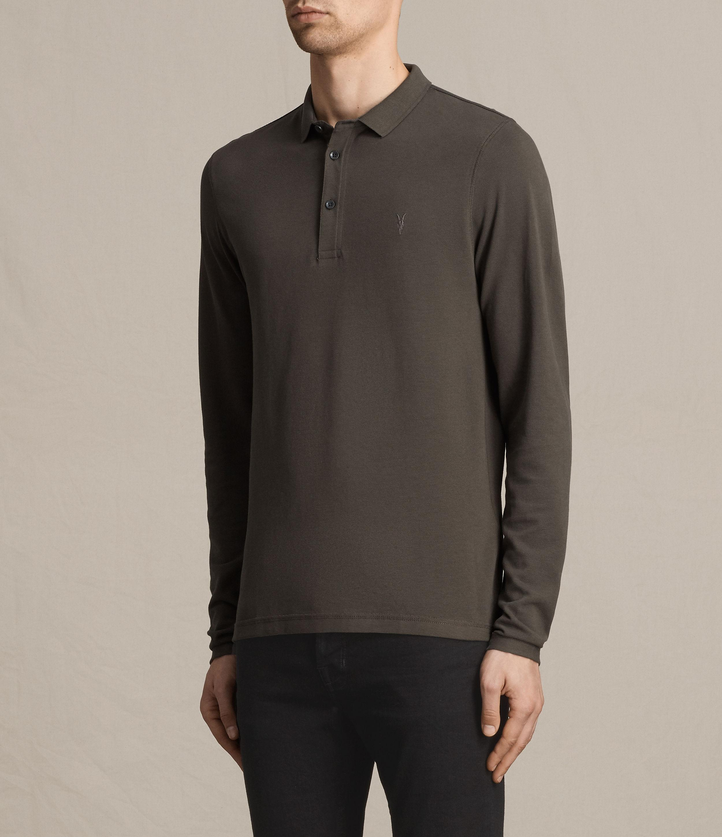 Allsaints reform long sleeve polo shirt for men lyst for All saints polo shirt