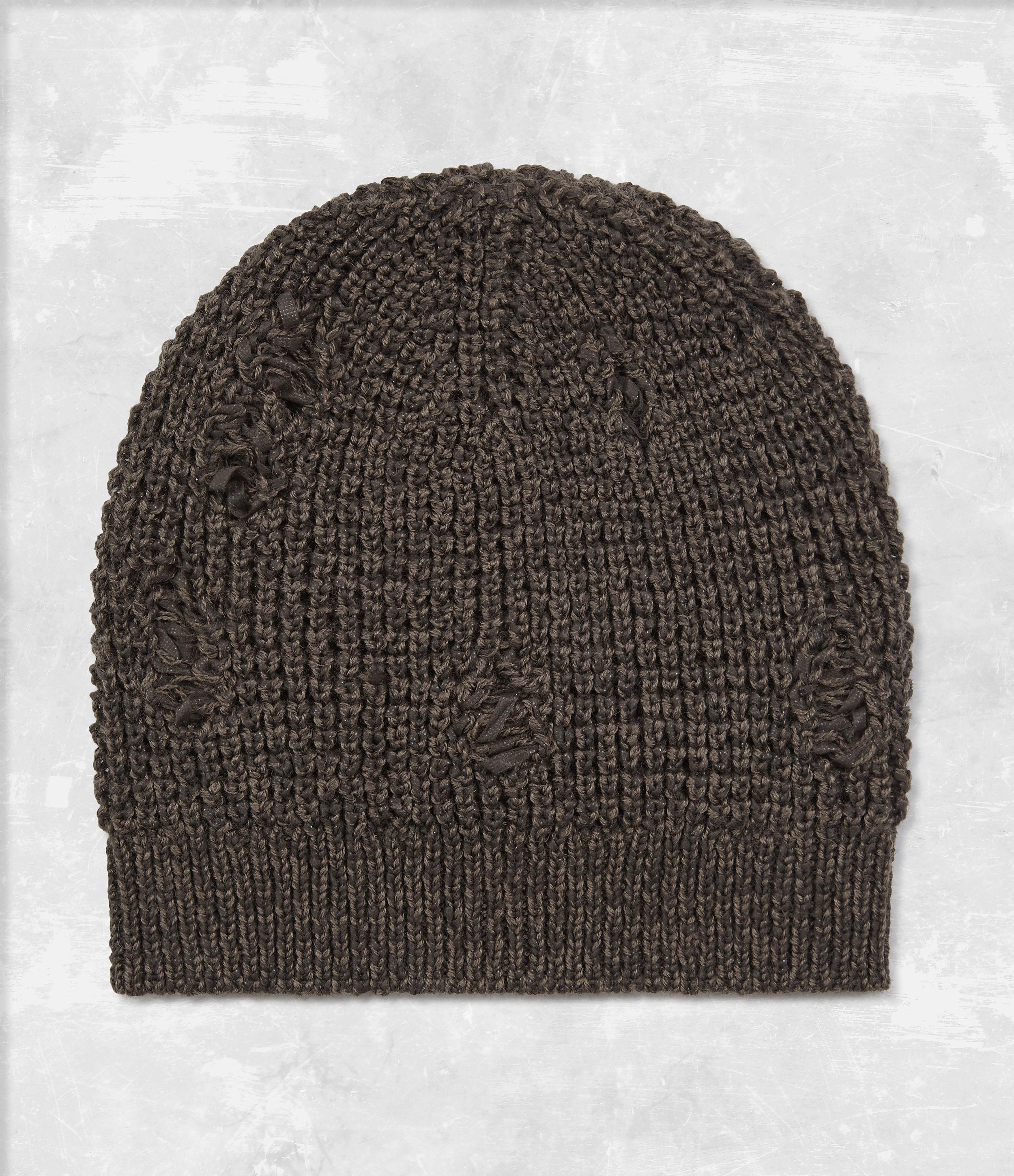 3211909e854 ... new zealand christmas fabric lyst allsaints vektarr beanie hat in brown  for men c0774 c46ff