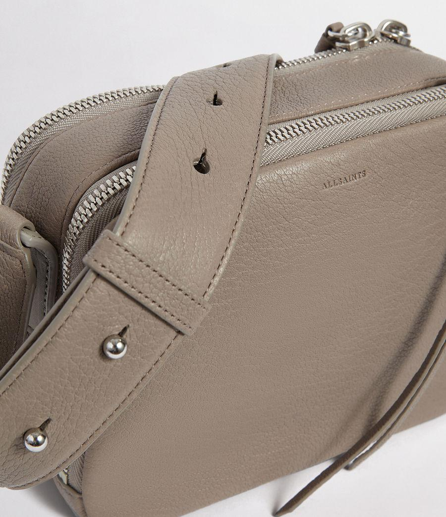 7a68ad68112ef Lyst - AllSaints Vincent Leather Crossbody Bag in Gray