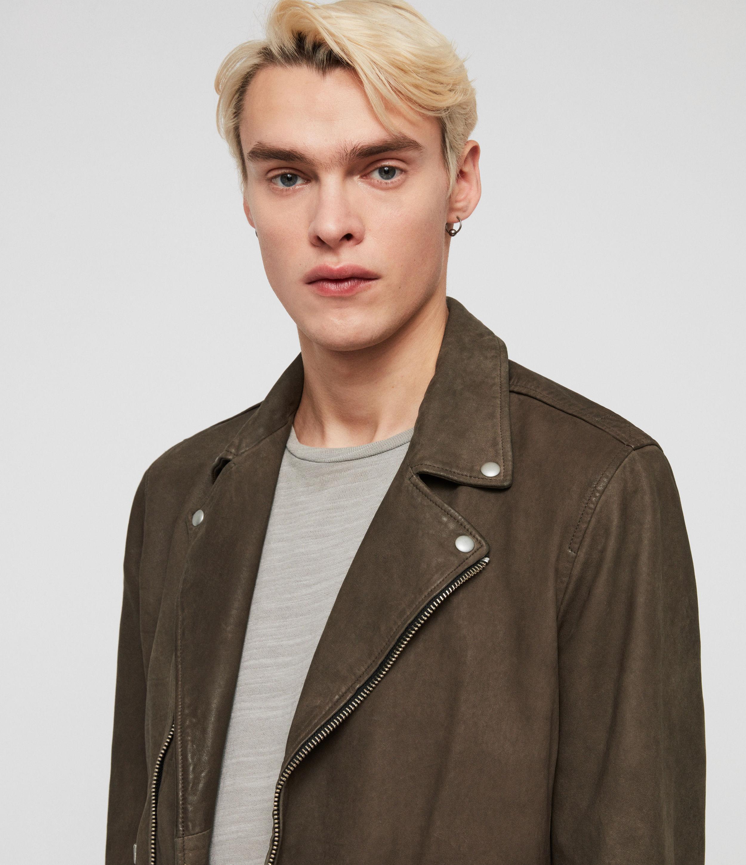 b7dd6bec518 AllSaints - Multicolor Milo Leather Biker Jacket for Men - Lyst. View  fullscreen