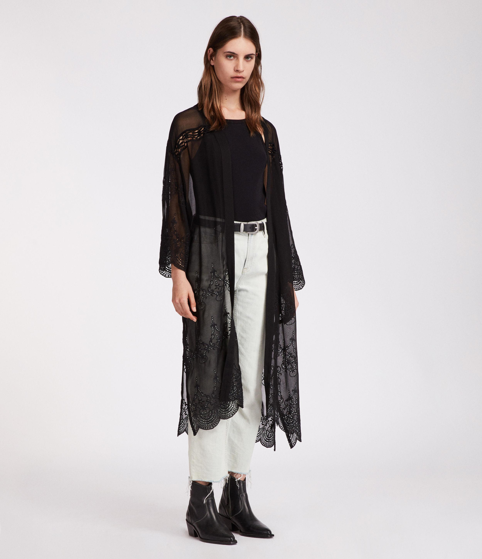 Rosemarie Zinnia In Black Lyst Allsaints Kimono kuTOPZXi