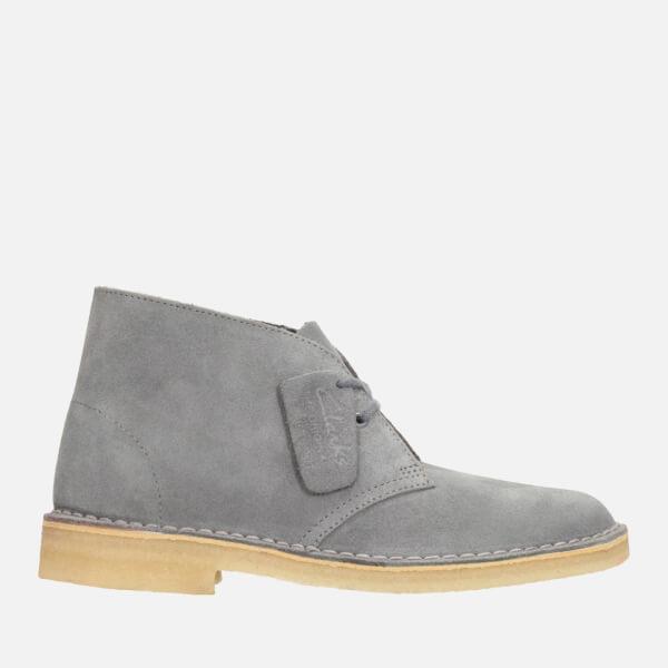 clarks s suede desert boots in grey lyst