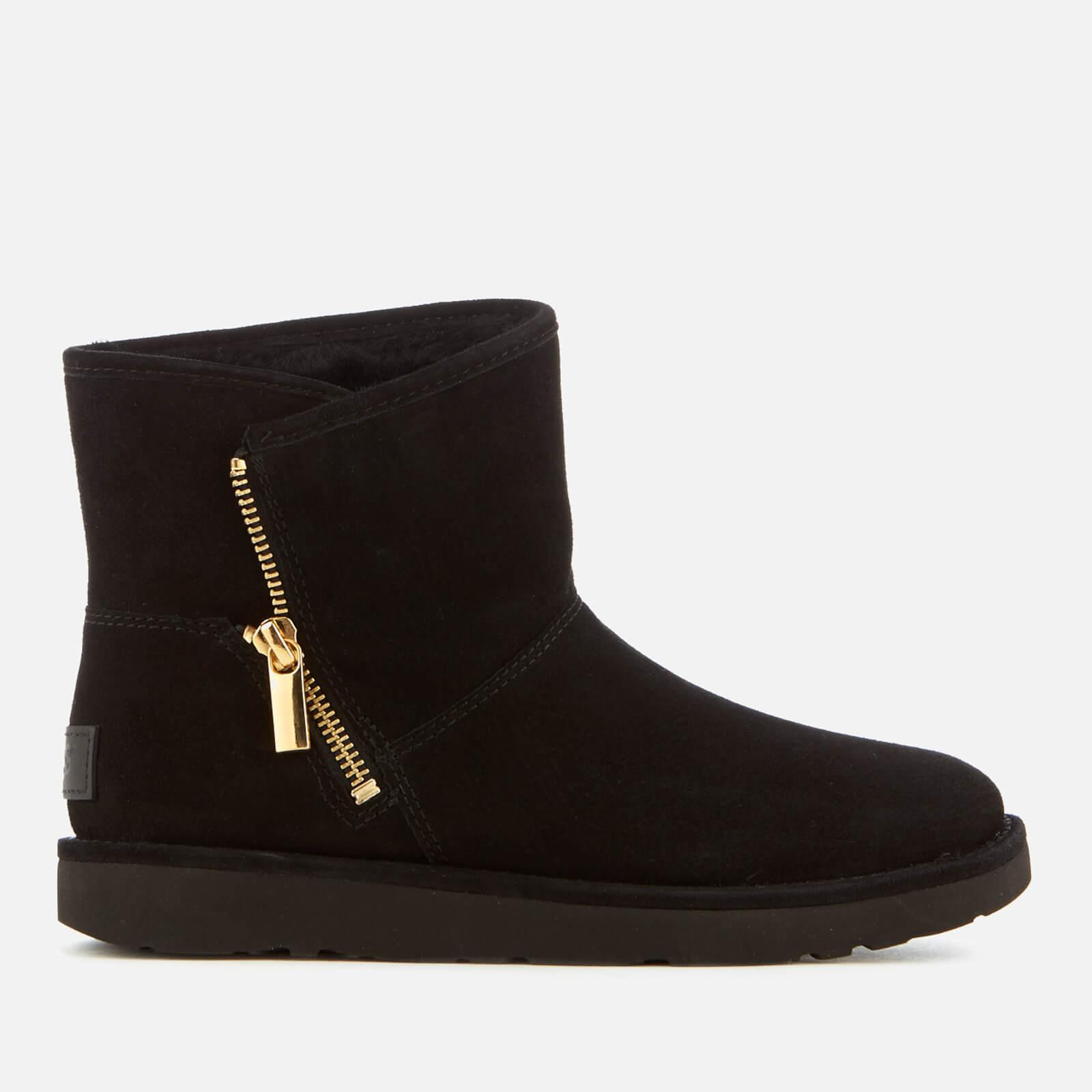 266b9525d63 UGG Women's Kip Suede Zip Side Boots in Black - Lyst