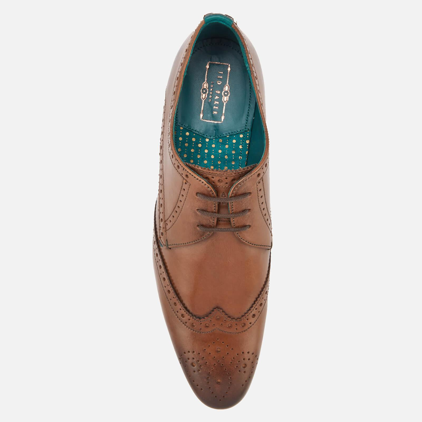 c2eabd5d23370 Ted Baker - Brown Hosei Leather Wing Tip Brogues for Men - Lyst. View  fullscreen