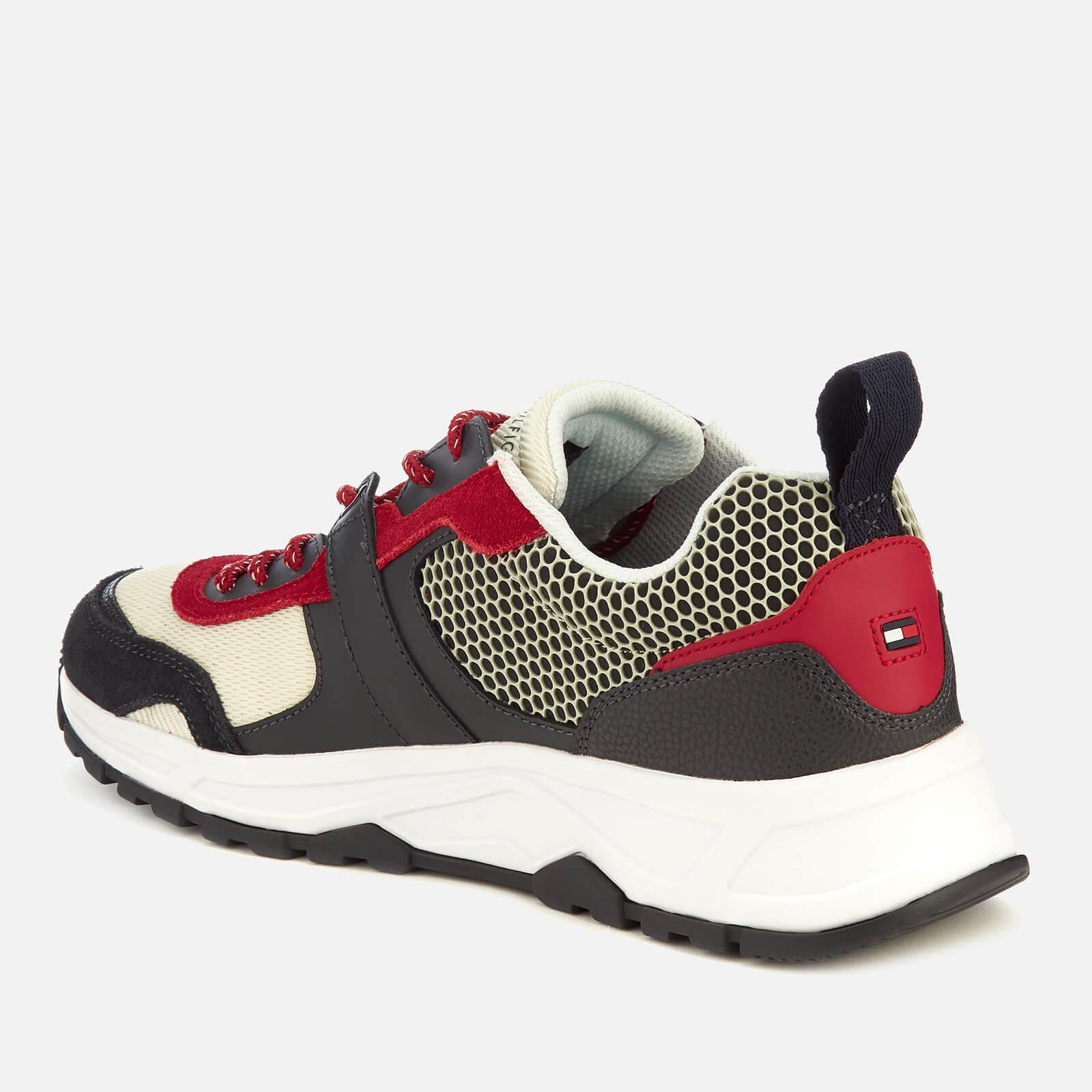 1d557e23 Tommy Hilfiger Material Mix Lightweight Runner Trainers in Blue for ...