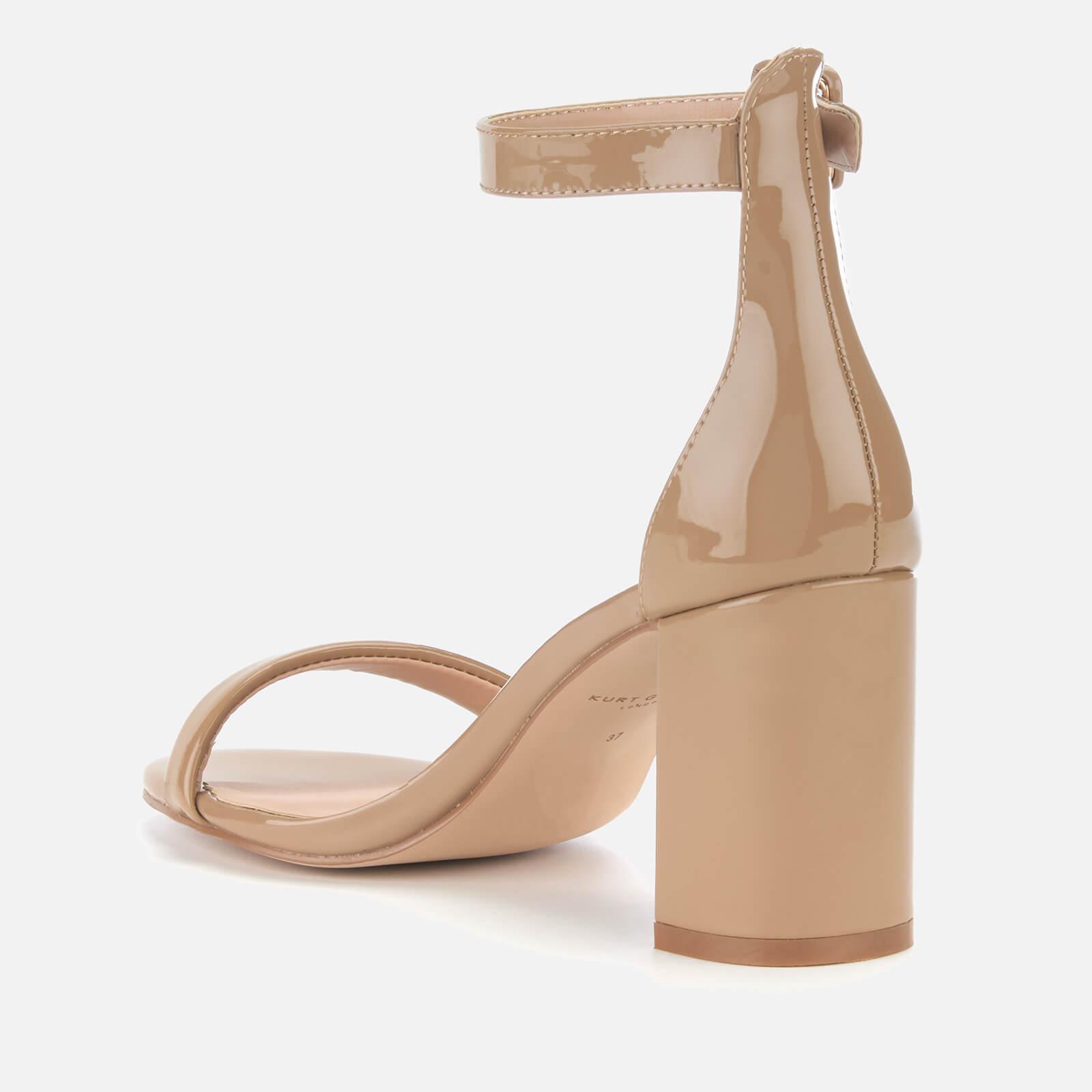 b1d8ba094a9 Kurt Geiger Langley Patent Block Heeled Sandals in Natural - Lyst