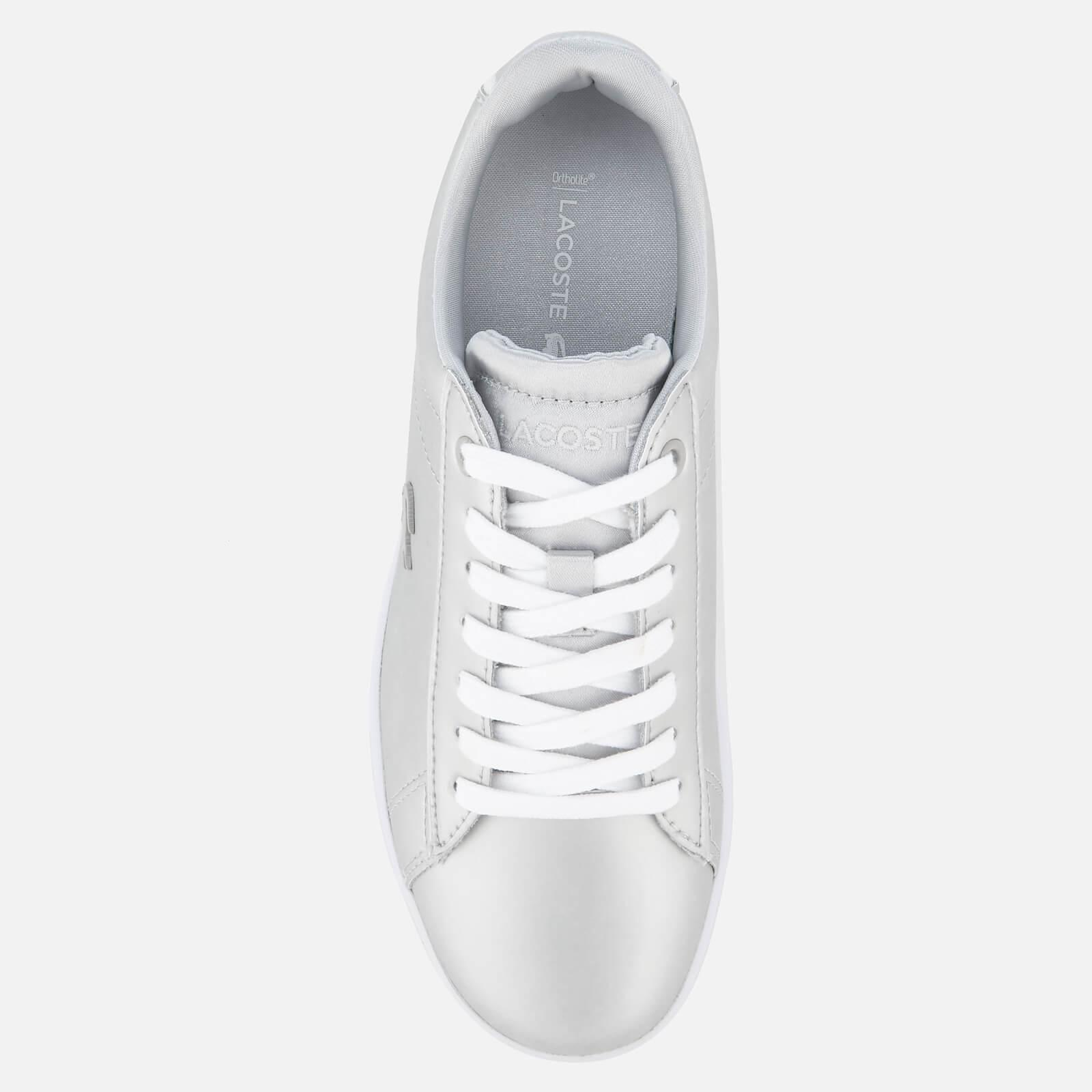 579cc9c7618c27 Lyst - Lacoste Carnaby Evo 118 1 Leather Trainers in Metallic
