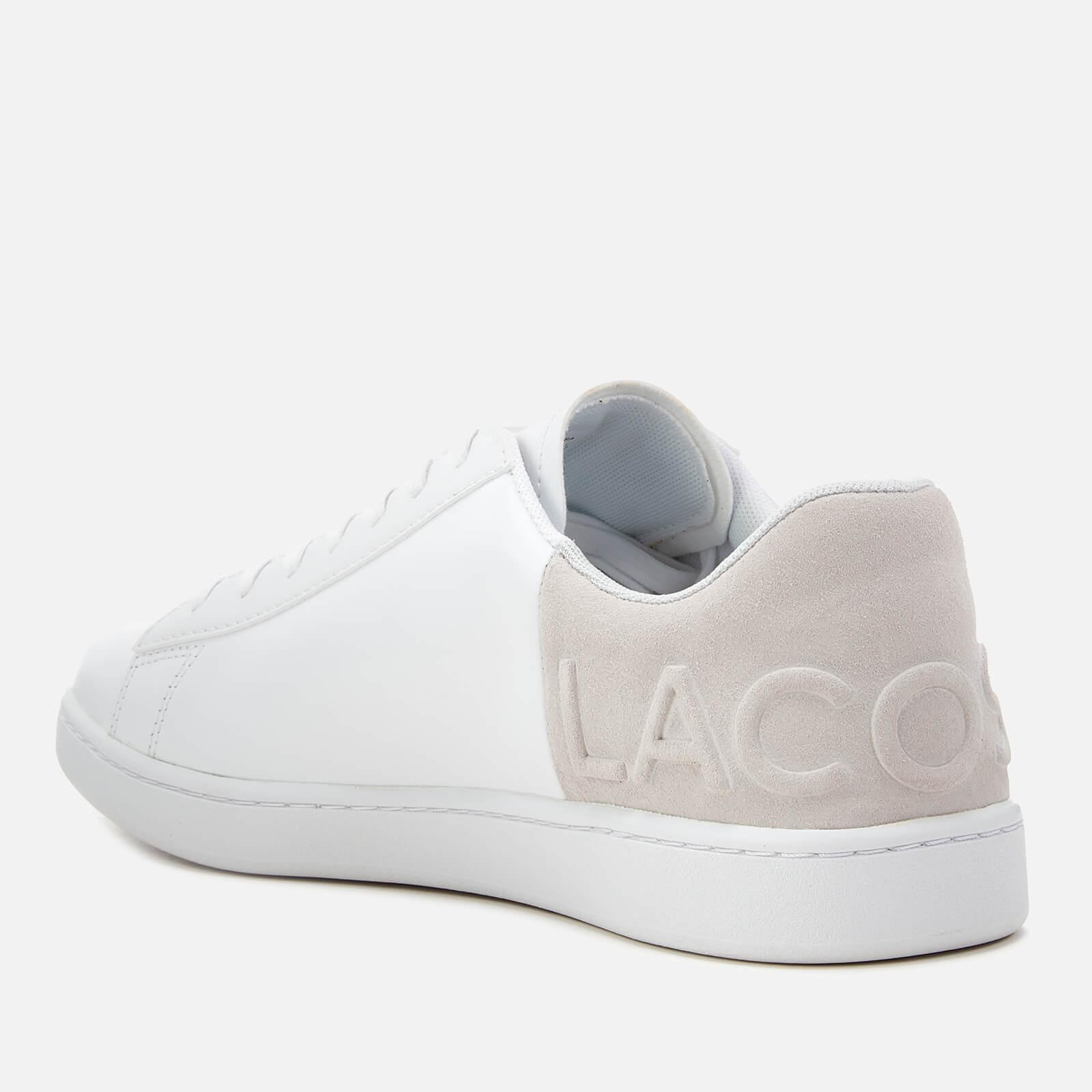 32271e50c21343 Lacoste - White Carnaby Evo 318 6 Leather suede Trainers for Men - Lyst.  View fullscreen