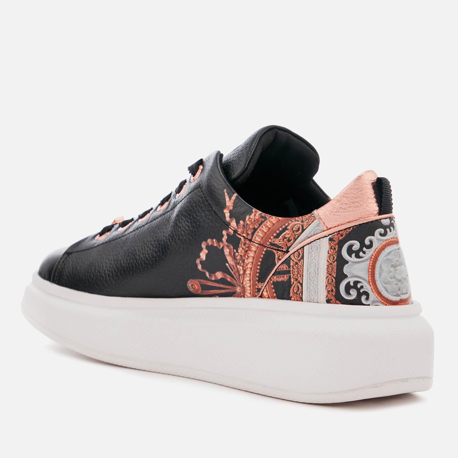 faad55269630 Ted Baker Ailbe Leather Platform Trainers in Black - Lyst