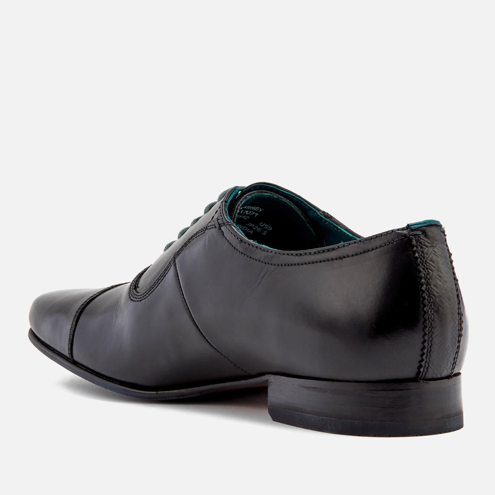 802356637d02 Ted Baker - Black Karney Leather Toe Cap Oxford Shoes for Men - Lyst. View  fullscreen