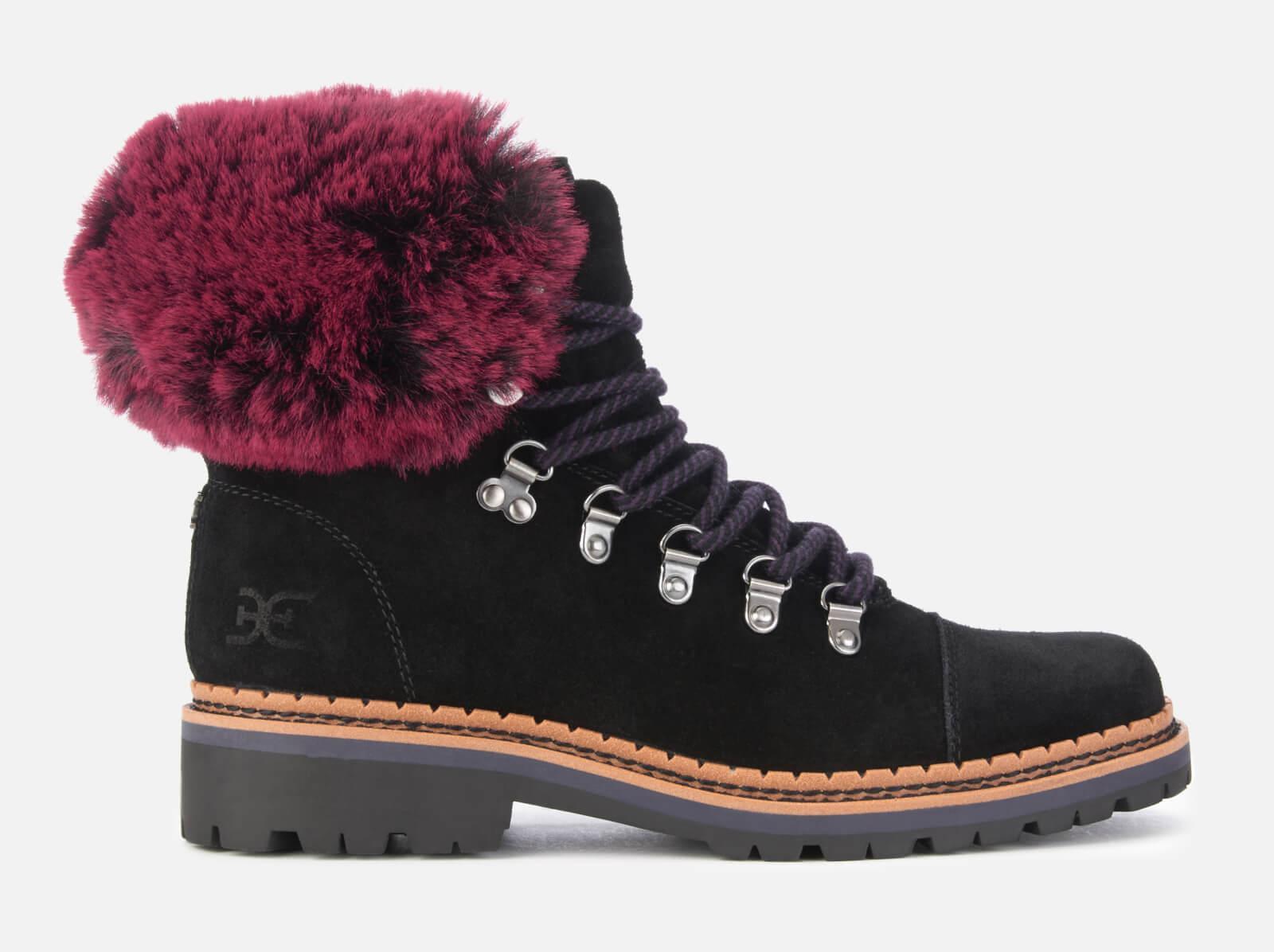 e5b70659e9421 Lyst - Sam Edelman Bowen Velutto Suede Hiker Style Boots in Black