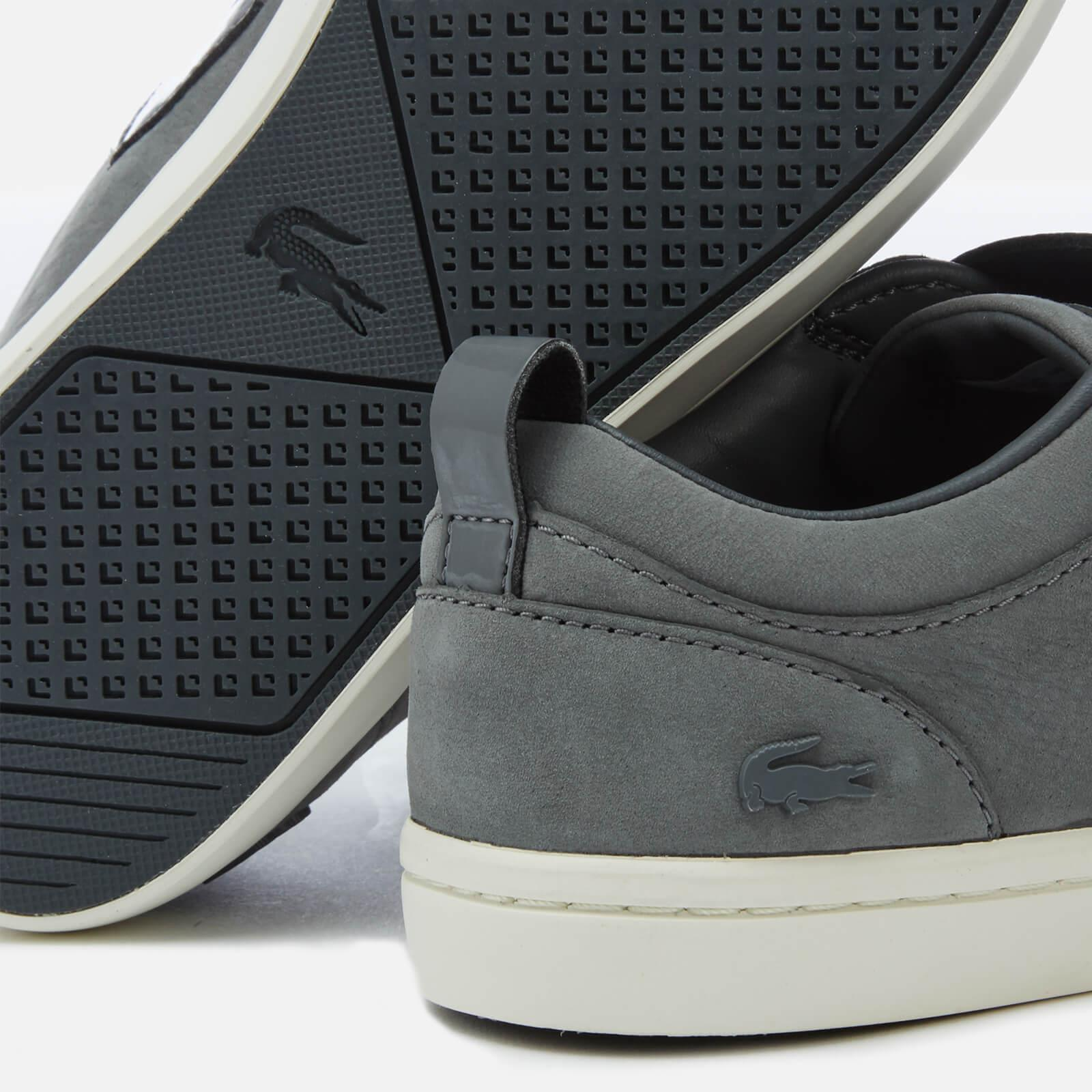 Lacoste - Gray Women s Straightset Strap 318 1 Nubuck Trainers - Lyst. View  fullscreen 1439298ddf