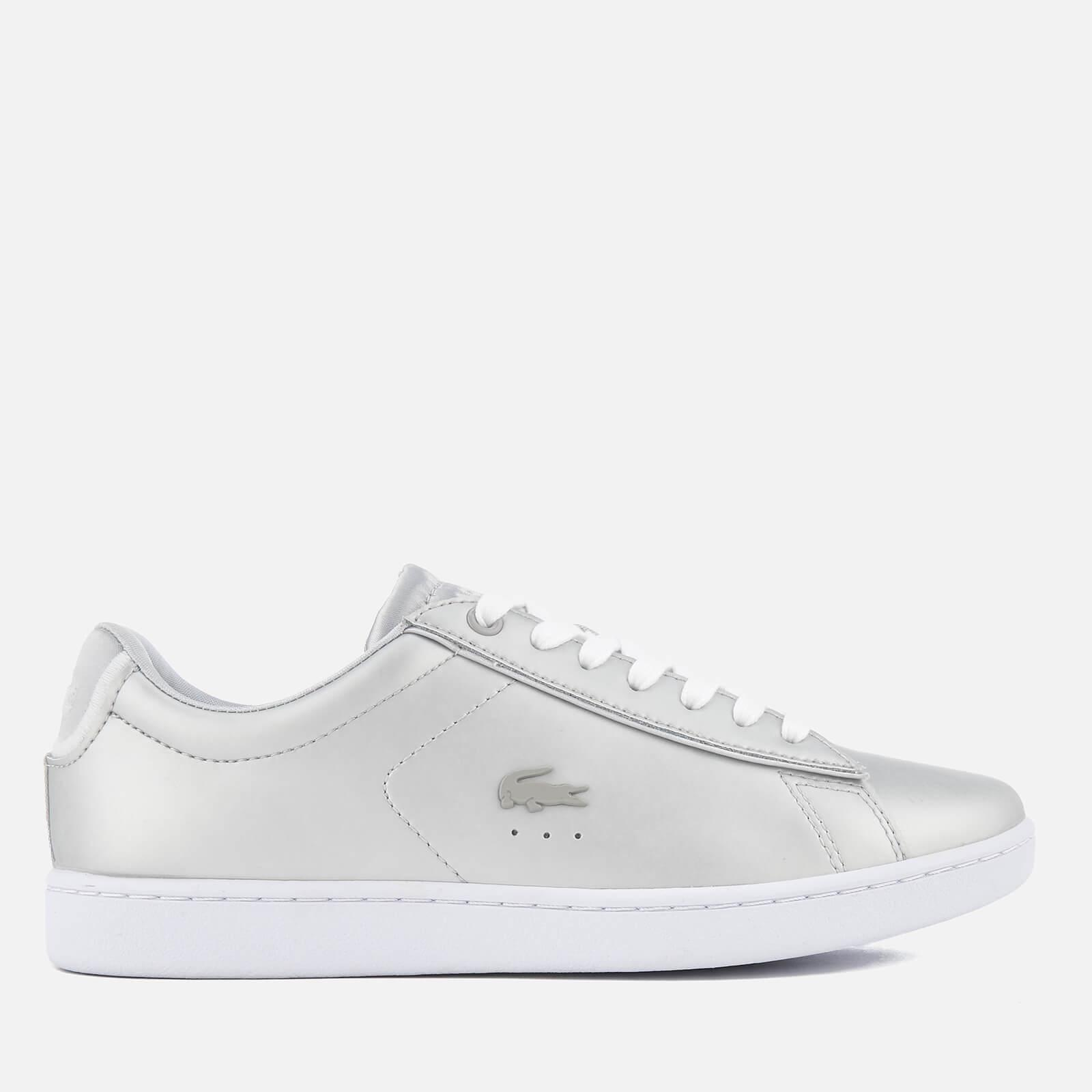 8c25a8812703 Lyst - Lacoste Carnaby Evo 118 1 Leather Trainers in Metallic