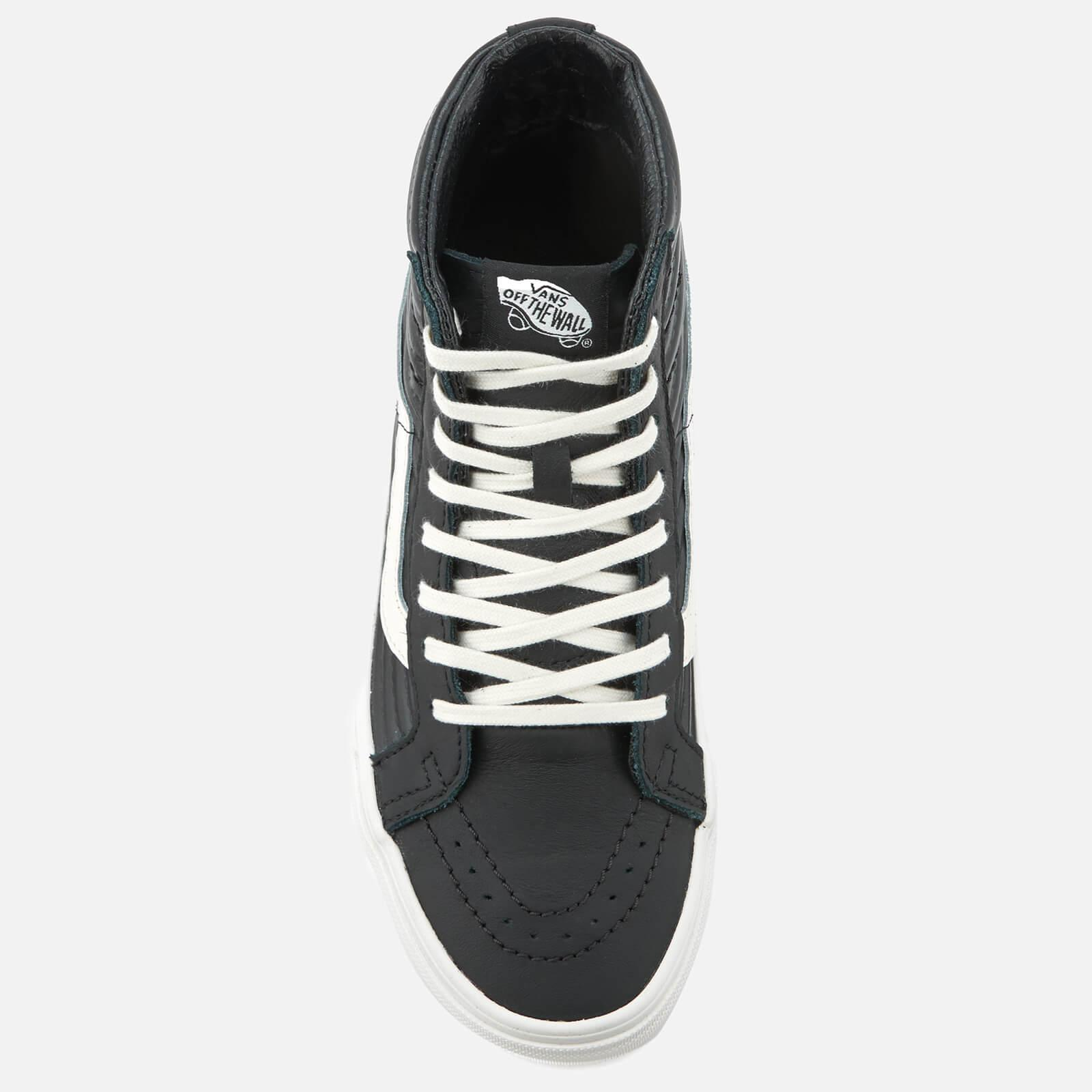 a8598b7702cc Vans Women's Sk8-hi Reissue Moto Leather Hi-top Trainers in Black - Lyst