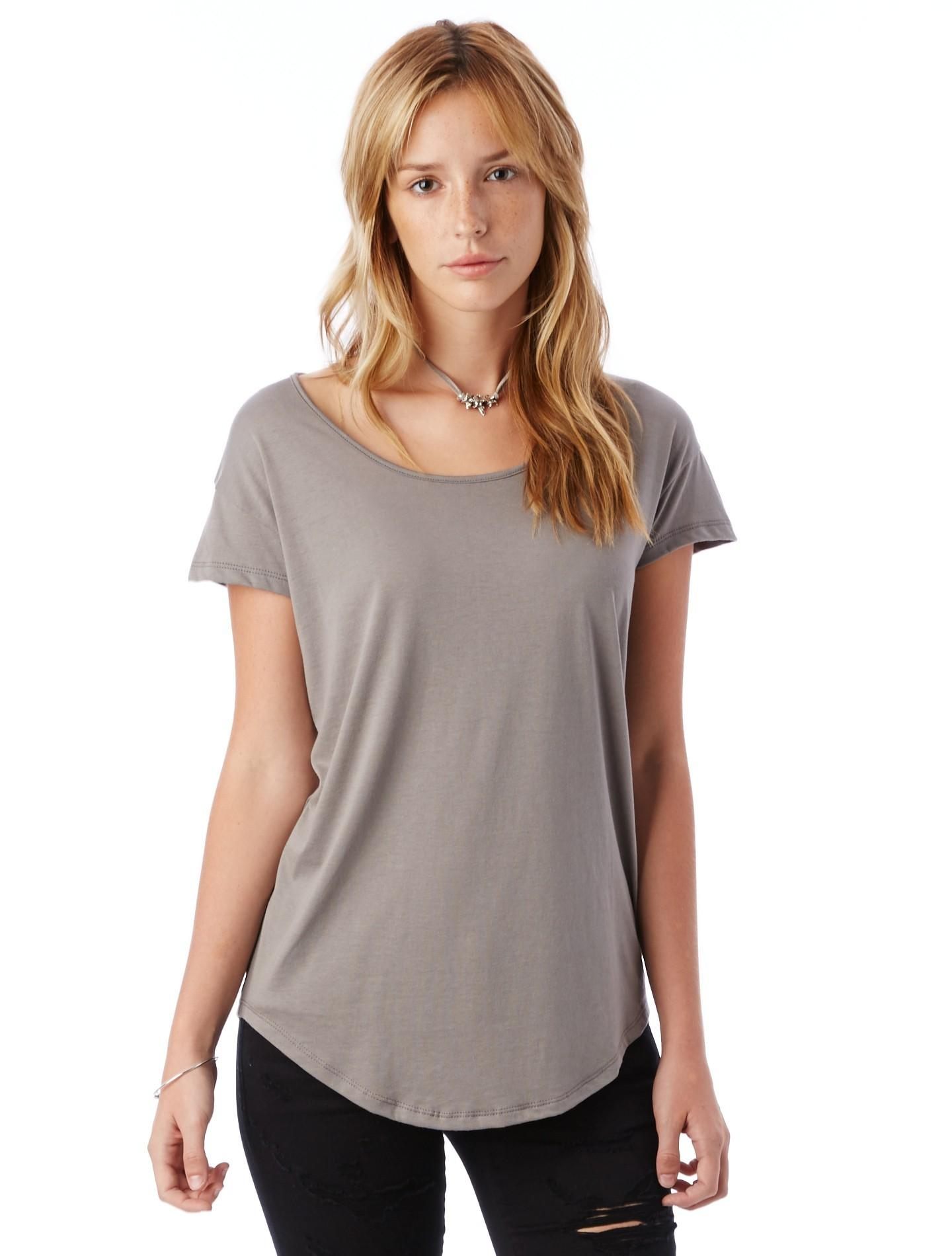 alternative apparel origin cotton modal t shirt in