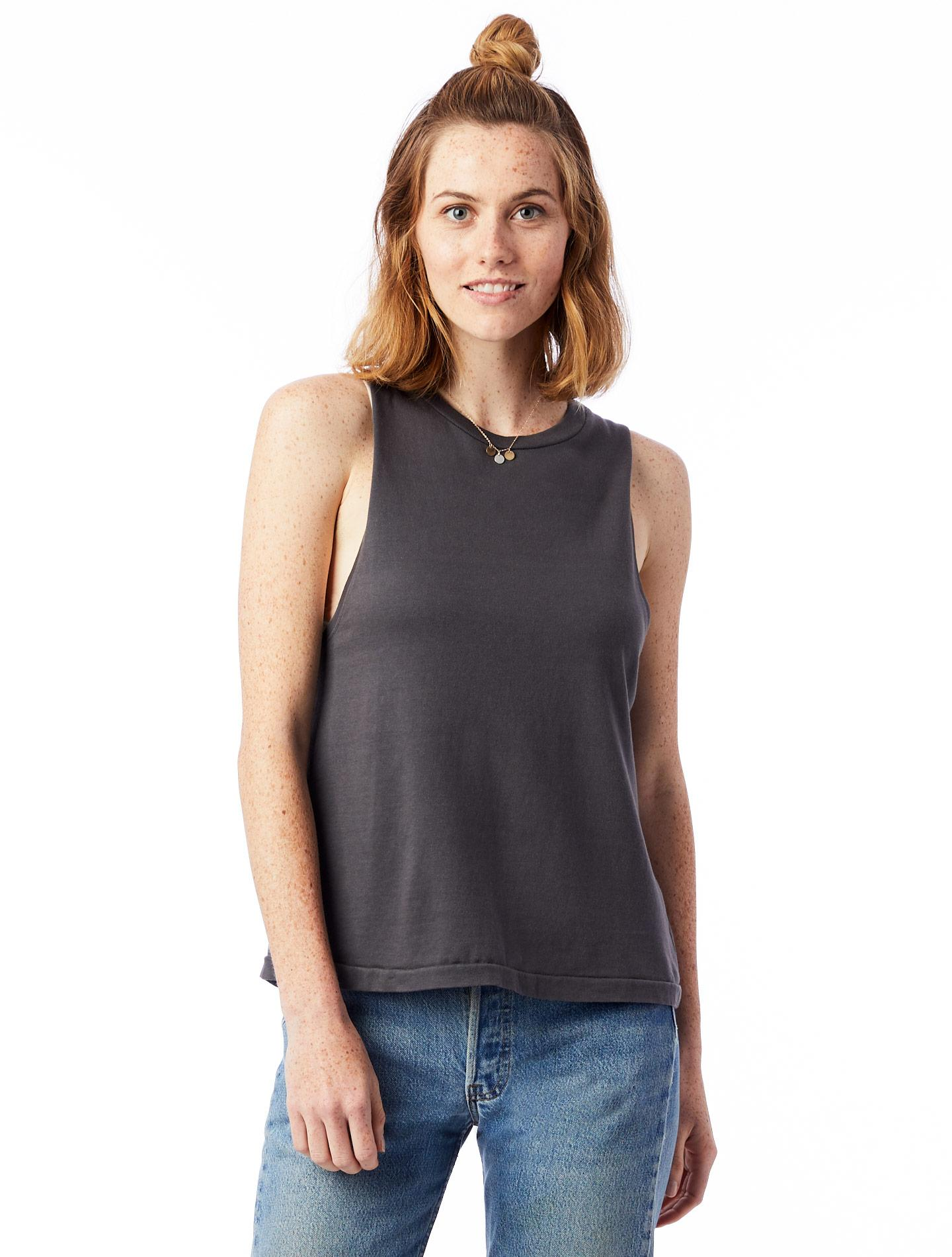 cbfb7d962 Lyst - Alternative Apparel Heavy Wash Jersey Muscle Tank Top in Gray
