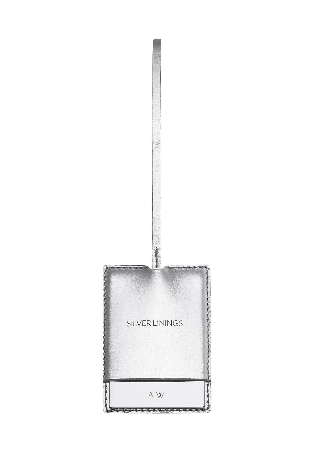 Amanda Wakeley Silver Linings Mirror Bag Charm Silver zpdfIFG