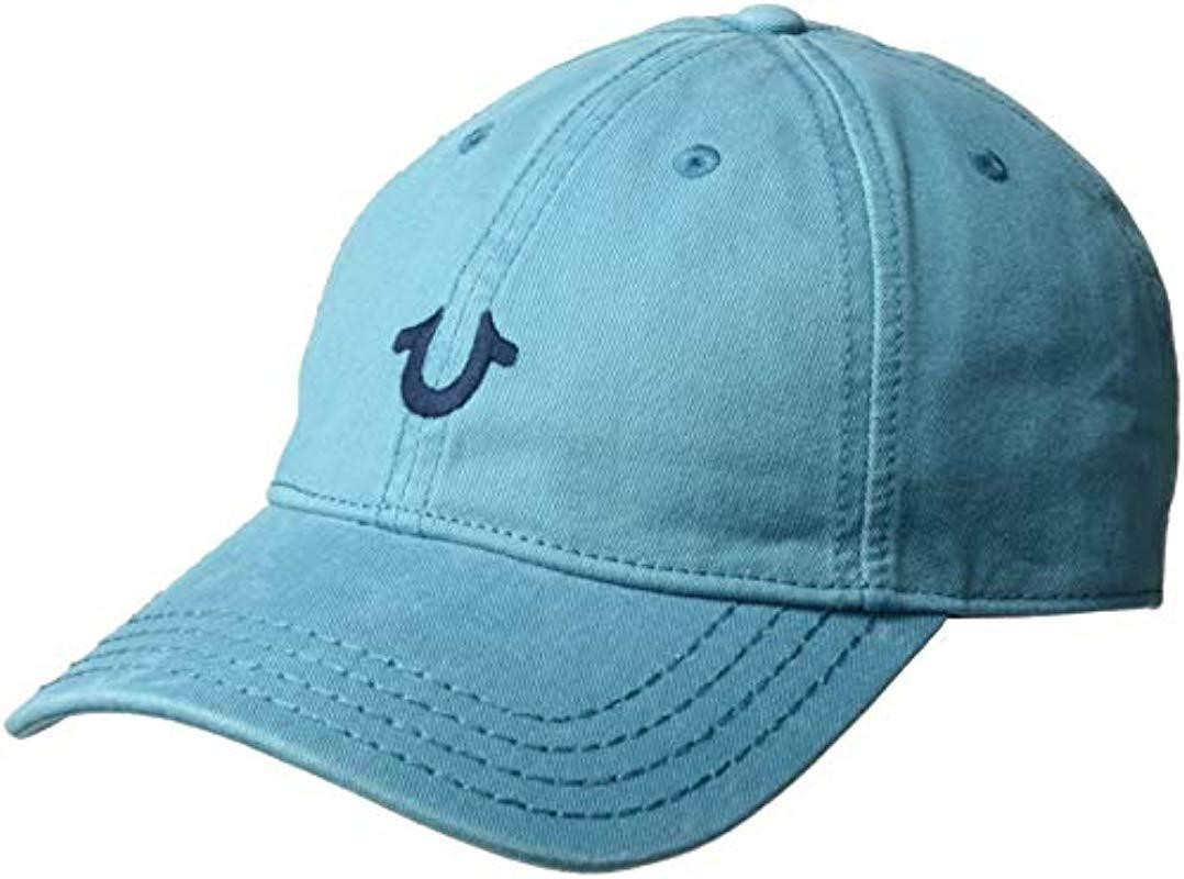 fd056a569150b True Religion. Men s Blue Core Logo Baseball Cap