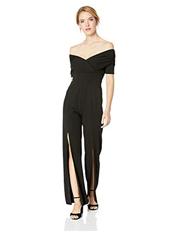 e82f8a30b39b Lyst - Guess Half Sleeve Juda Jumpsuit in Black