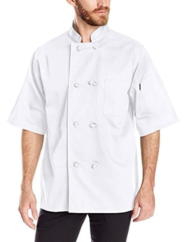588cc91f905 Dickies - Unisex Classic Knot Button Short Sleeve Chef Coat-white for Men -  Lyst. View fullscreen