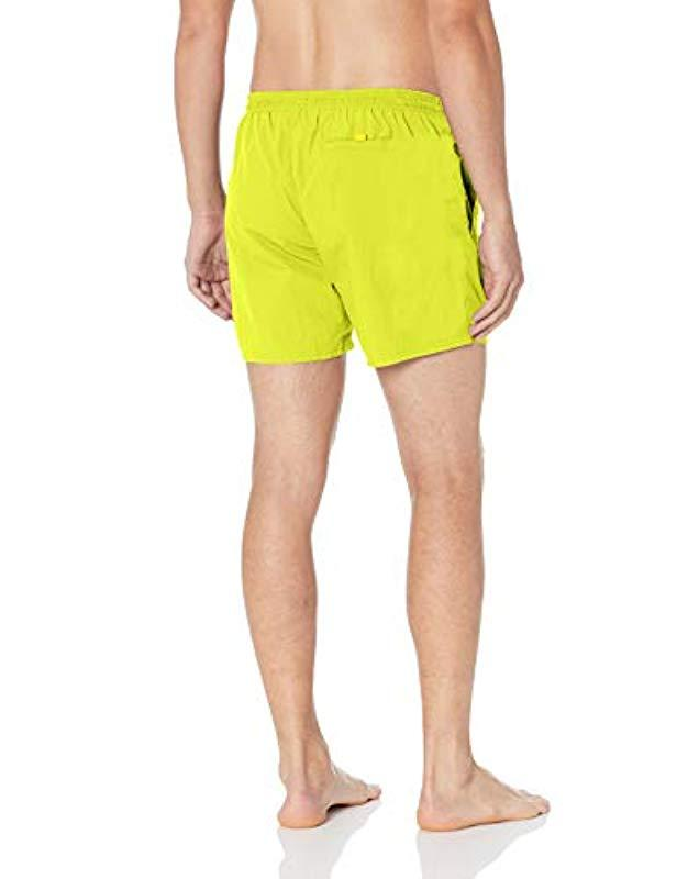 2452da4a1689c Lyst - BOSS Octopus Logo Swim Shorts In Neon Yellow in Yellow for Men -  Save 49%