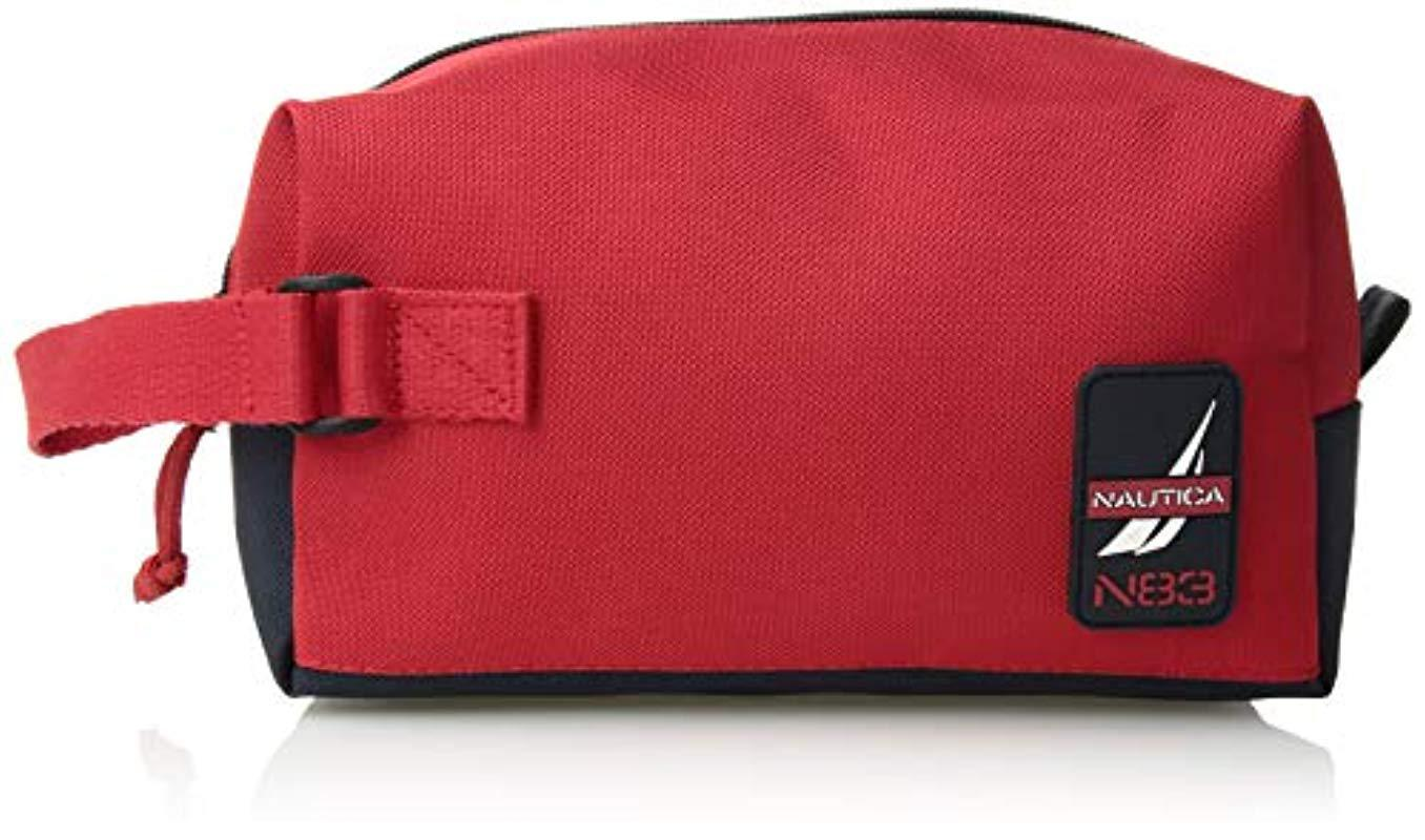 4a0e435141b Lyst - Nautica Canvas Toiletry Bag Travel Kit Organizer in Red for Men