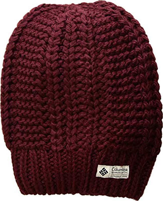 68f828890eb34 Columbia - Red Hideaway Haven Slouchy Beanie - Lyst. View fullscreen