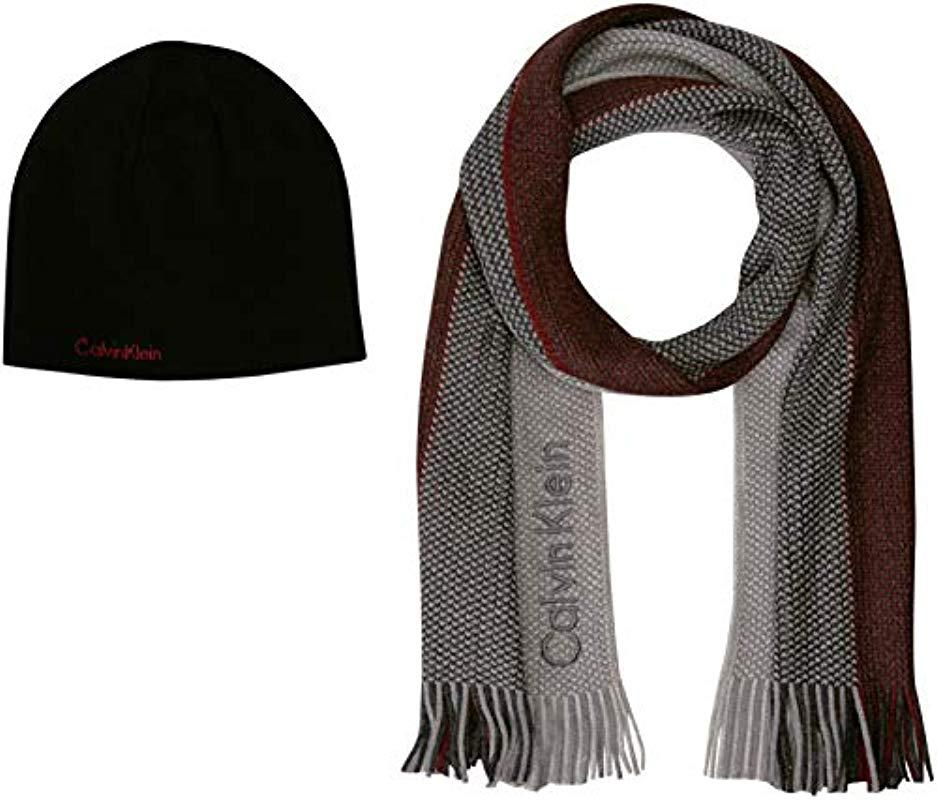 93abcbd9c85 Lyst - Calvin Klein Hat And Scarf Set for Men - Save 23%