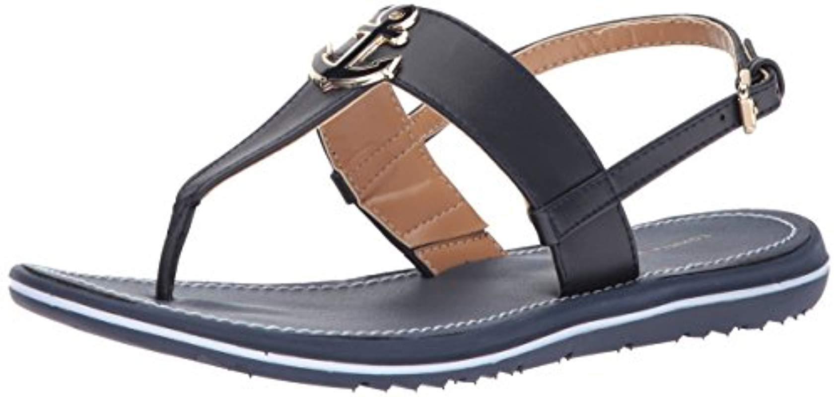 d25449a54428a6 Lyst - Tommy Hilfiger Galiant Flat Sandal in Blue