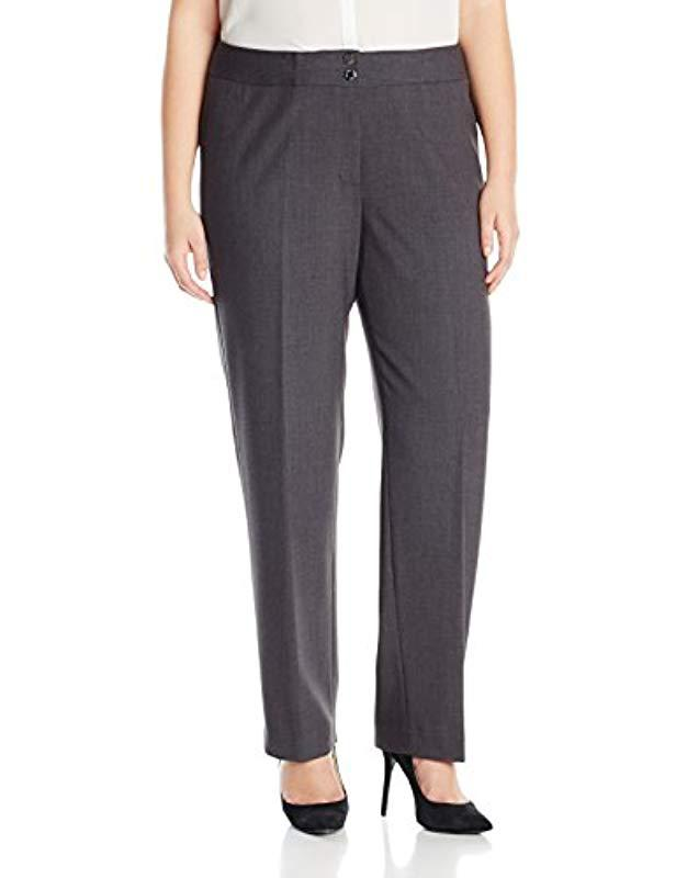 5388af13480 Lyst - Calvin Klein Plus Size Career Pant in Gray - Save 35%