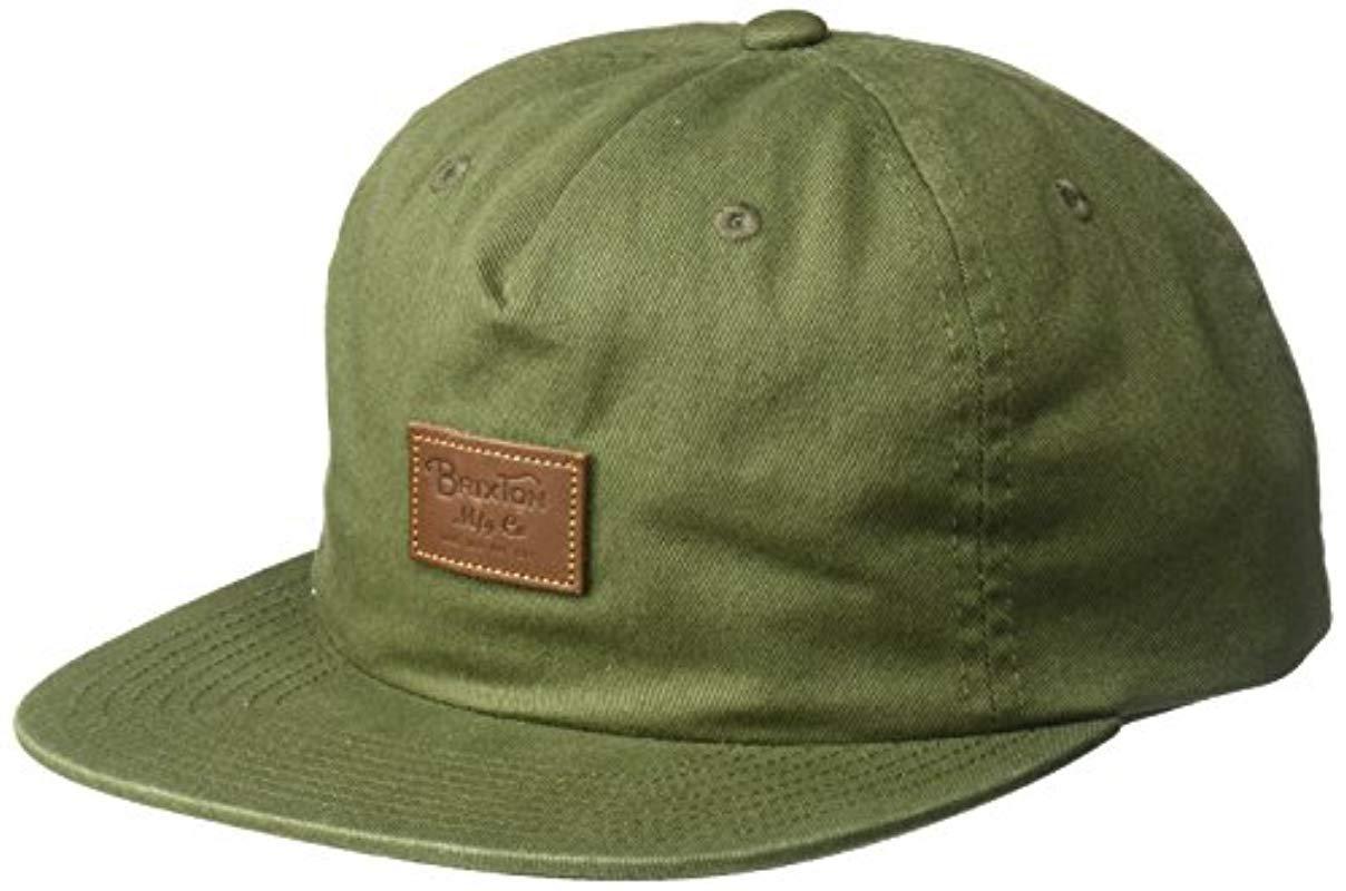 fcd63030ca8 Brixton. Men s Green Grade Ii Medium Profile Adjustable Unstructured Snapback  Hat