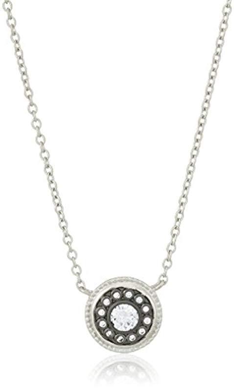 Lyst Freida Rothman S Signature Nautical Button Pendant Necklace