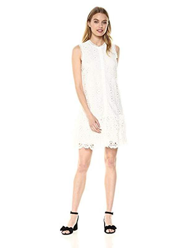 f52fd79c53 Lyst - Trina Turk Trina Jewels Drop Flounce Dress in White