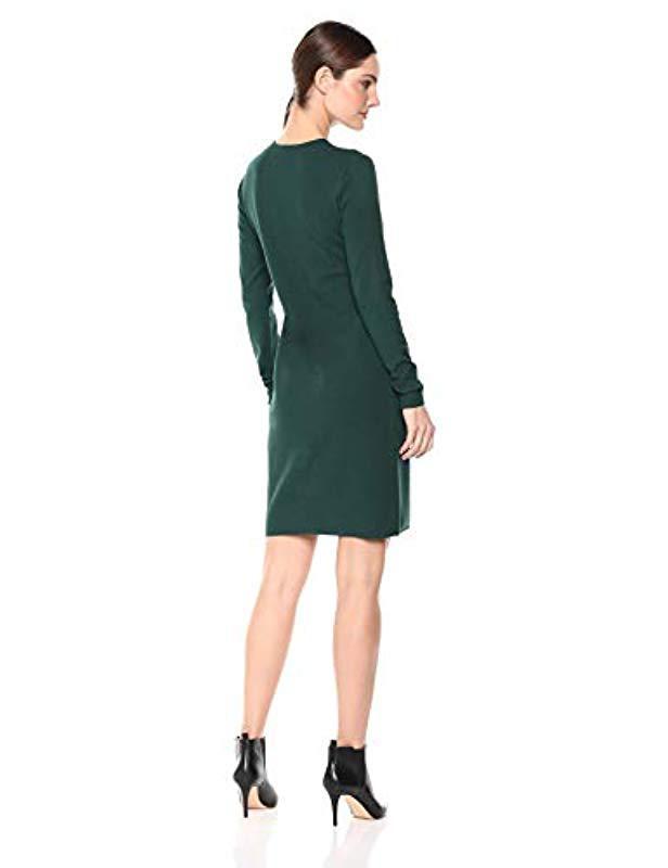 cd26c2d559 Lyst - Lark   Ro Long Sleeve Faux Wrap Sheath Sweater Dress in Green