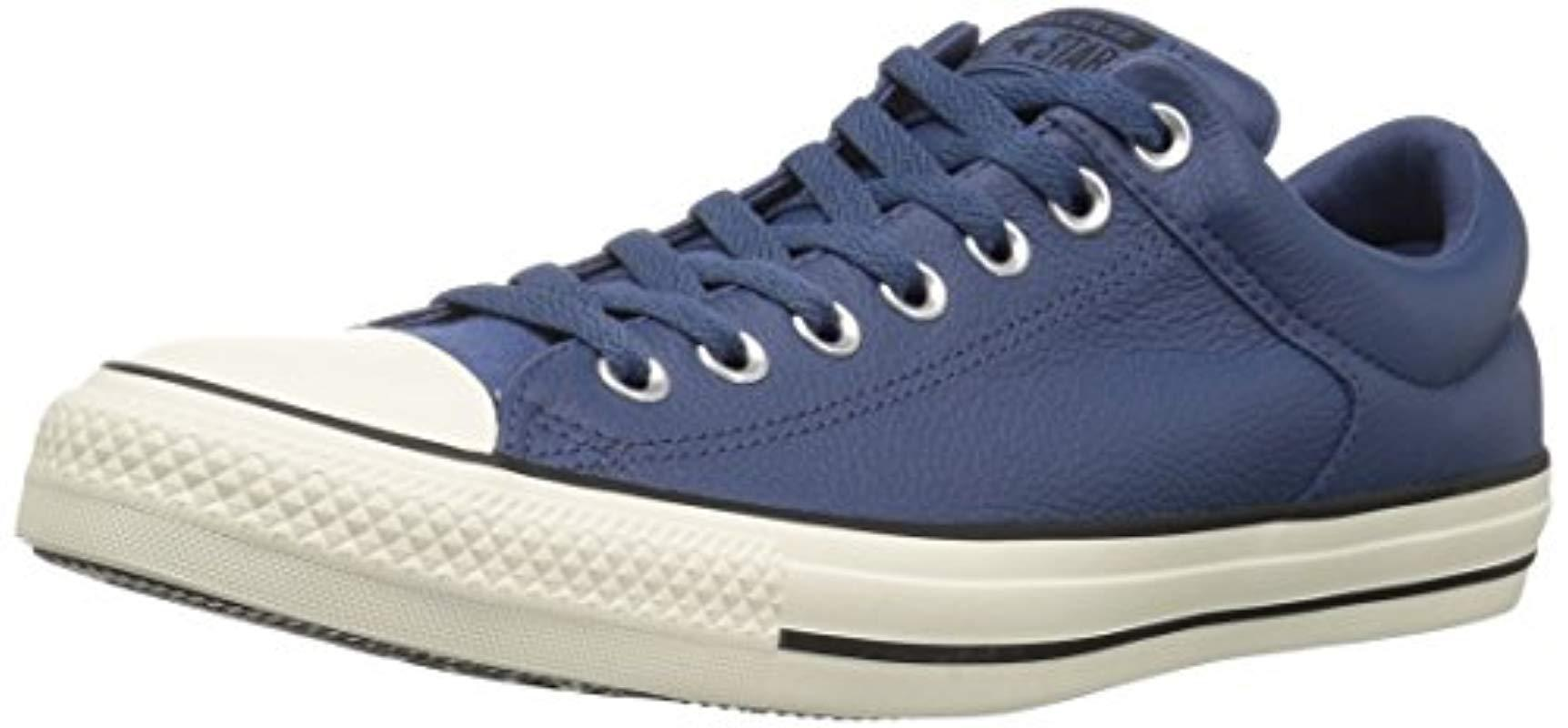 Lyst - Converse Ctas High Street Ox Mason Blue egret Sneaker in Blue ... 389cbd010