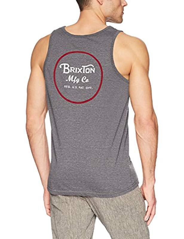 c5e31ff5f80f2 Brixton Mens Wheeler Tailored Fit Tank Top Shops