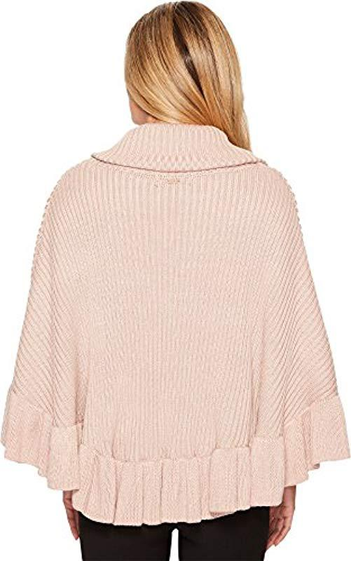 4dfeb130629 Ivanka Trump - Multicolor Pull Over Heavy Cowl Neck Armless Poncho Sweater  - Lyst. View fullscreen